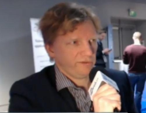 Christophe Shaw, directeur du Business Developpement des applications chez Microsoft France, au salon LeMobile 2013