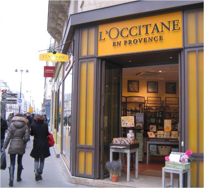 Magasin L'Occitane, rue de Rivoli, Paris