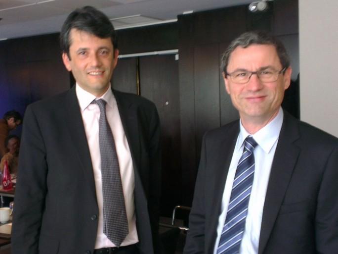 Thierry Podolak (directeur général exécutif) et Eric Denoyer (PDG) de Completel