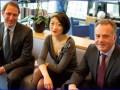 Fleur Pellerin, ministre PME & Innovation, entourée de Bernard-Louis Roques (Truffle) et Laurent Calot (CXP)