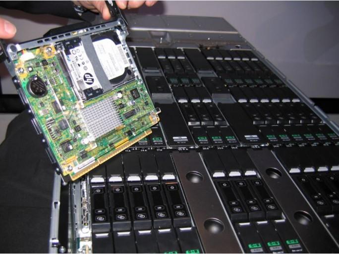 HP Moonshot 1500, gros plan sur un serveur 'cartridge'