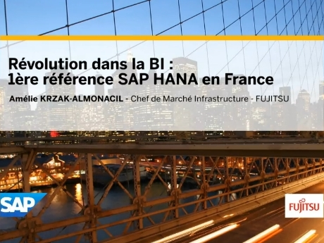 Vidéo Fujitsu - SAP Hana