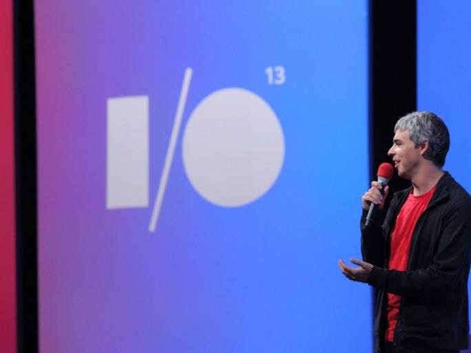 Larry Page, CEO de Google lors du Google I/O 2013