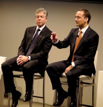 Bill McDermott et Jim Hagemann Snabe, co-CEO de SAP