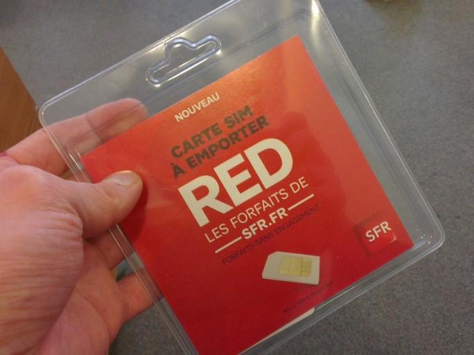Le forfait RED de SFR en tête de gondole