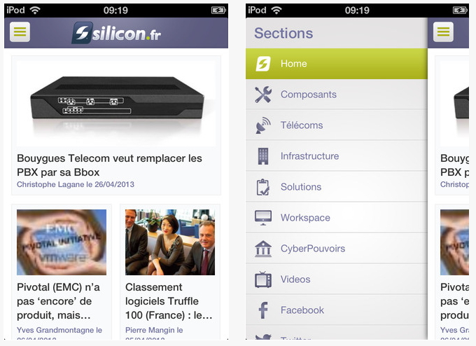 Silicon.fr disponible sur iOS