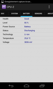 """Batterie"" : SoC APQ8064 du Nexus 4"