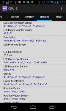 """""""Capteurs"""" : SoC APQ8064 du Nexus 4"""
