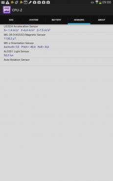 """""""Capteurs"""" : SoC Exynos 4412 de la Galaxy Note 8.0"""
