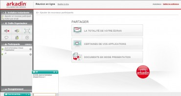 Arkadin Anywhere interface reunion en ligne