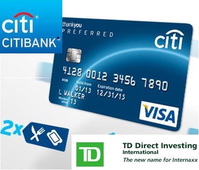 Citibank et TD Bank logos
