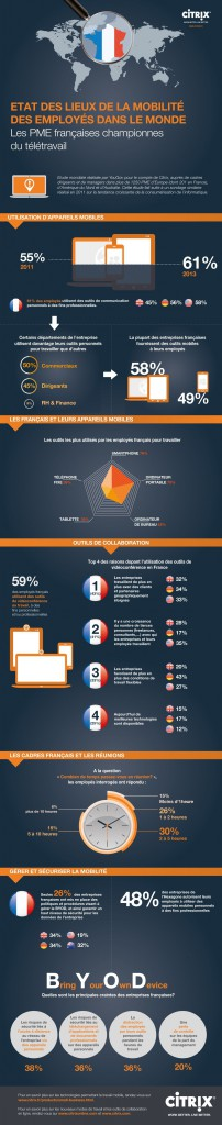 Infographie : la mobilité des PME française (sources Citrix/YouGov)