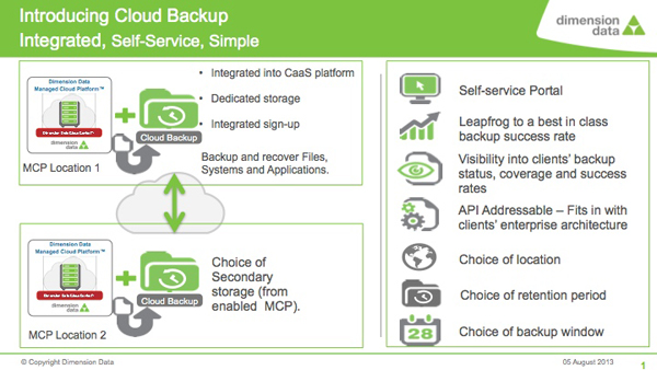 Dimension Data Cloud Backup 2