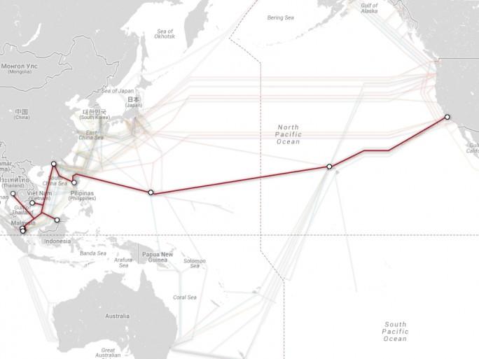 Asia America Gateway (AAG) relie la Malaisie aux Etats-Unis