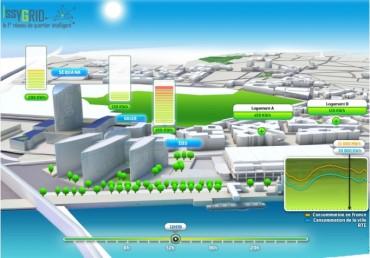 Modélisation de la consommation énergétique du quartier Seine Ouest d'Issy-les-Moulineaux.