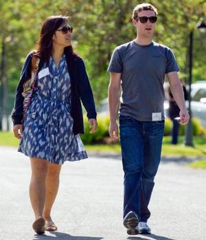 Priscilla Chan et Mark Zuckerberg, CEO et fondateur de Facebook