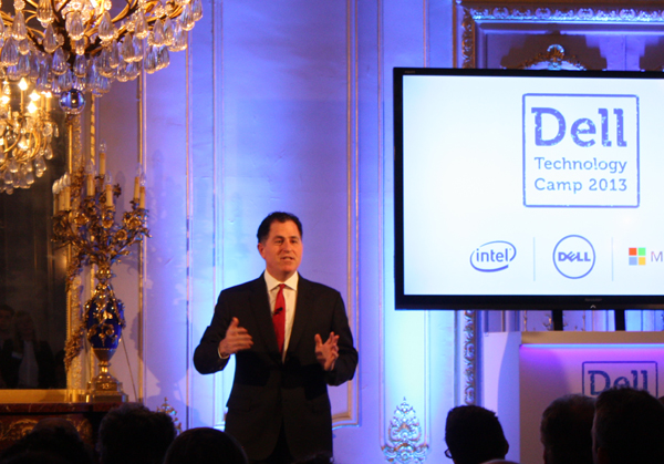 Michael Dell en représentation  sur le Dell Technology Camp 2013 à Paris