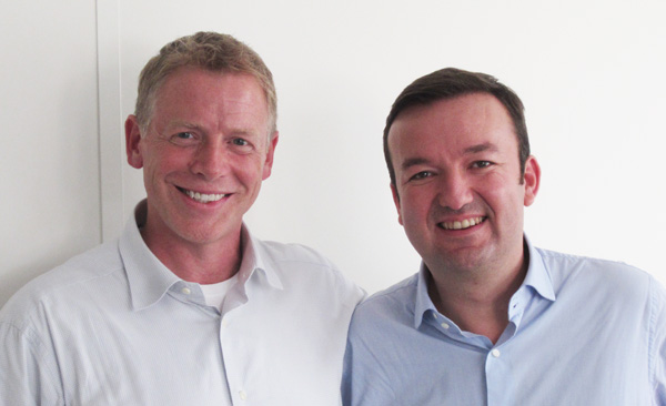 Scott Dietzen, CEO de Pure Storage, et Bertrand Bombes de Villiers, Directeur Commercial et Marketing d'AntemetA