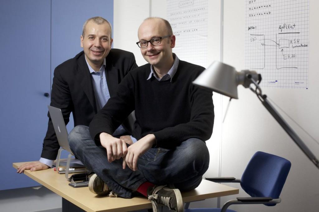 Axel Adida, responsable entreprise, et Charles Du Jeu, PDG, cofondateurs de Pydio.