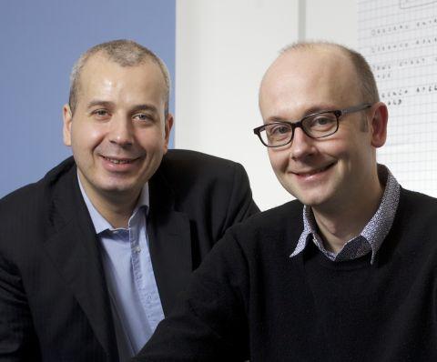 Axel Adida, responsable entreprise, et Charles Du Jeu, PDG, cofondateurs de Pydio