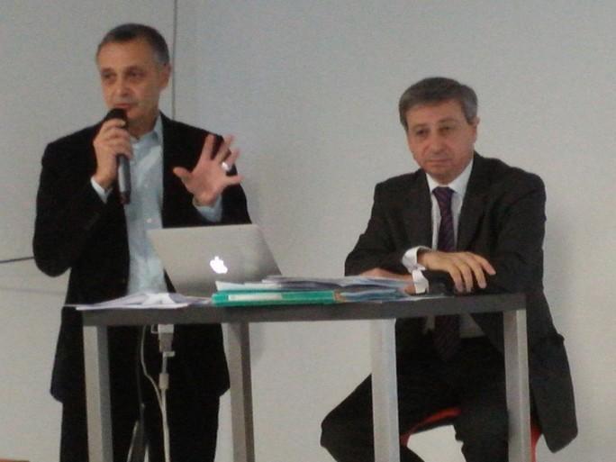 Jérôme Coutant, responsable numérique; et Etienne Guyot, président du directoire de la Société du Grand Paris