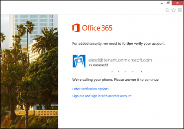 Office 365 authentification