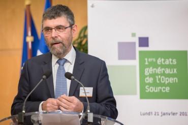 Jacques Marzin lors des Etats généraux de l'open source (DR @rabinovici)