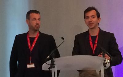 Olivier Pellegrino, responsable technique et Richard Tagliazucchi, chef de projet SI, Linky