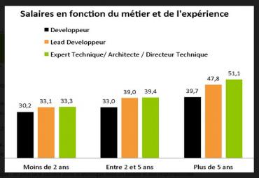 Salaires développeurs 2014 © JobProd