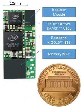 Le XMM 6255, un modem 3G inscrit dans une carte de 300 mm2.