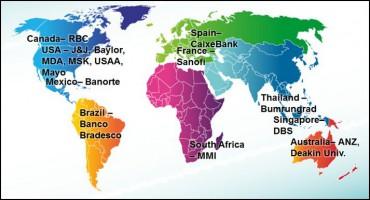 De grandes organisations misent sur Watson sur tous les continents.