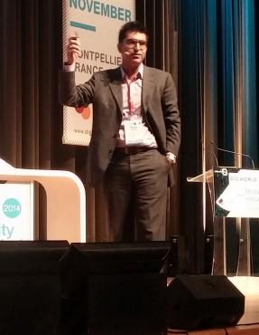 """Pour Kayvan Mirza (Optinvent), les lunettes connectées s'inscrivent comme """"le prochain écran""""."""