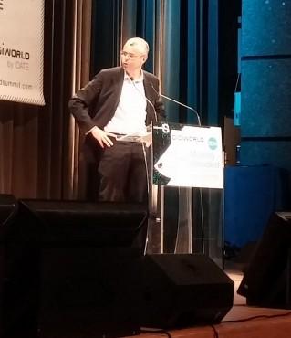 Michel Combes, dirigeant d'Alcatel-Lucent, est venu exposer sa vision d'un réseau convergent au DigiWorld Summit 2014