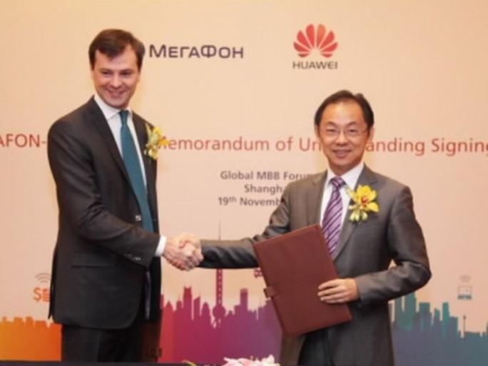 Huawei et MegaFon signent un accord de codéveloppement de la 5G pour 2018.