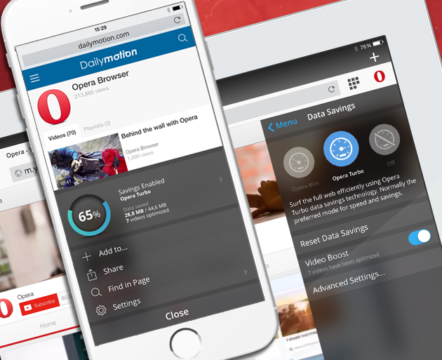 Opera Mini 9 for iOS