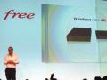Xavier Niel lors de la présentation de la Freebox mini 4k