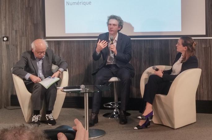 Erik Orsenna, Gilles Babinet et Axelle Lemaire aux 3e Matinales de l'Innovation consacrée à l'Energie Numerique