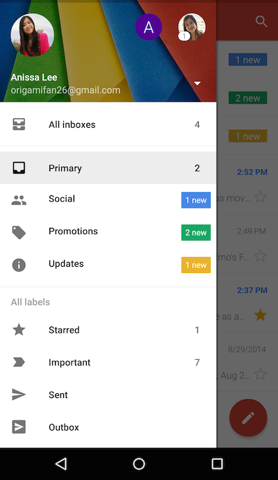 gmail android 1