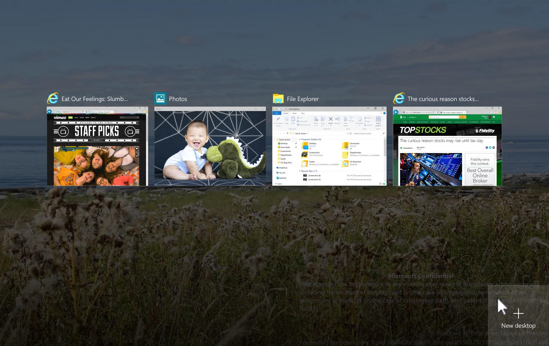 des bureaux virtuels avanc s au menu de windows 10. Black Bedroom Furniture Sets. Home Design Ideas
