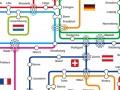 Interoute, réseau schématisé (détail)