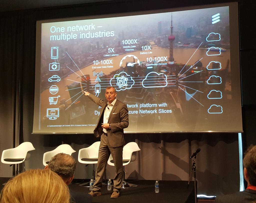 Ulf Ewaldsson, CTO d'Ericsson, présente sa vision du réseau à délivrer pour instaurer la société de l'information.