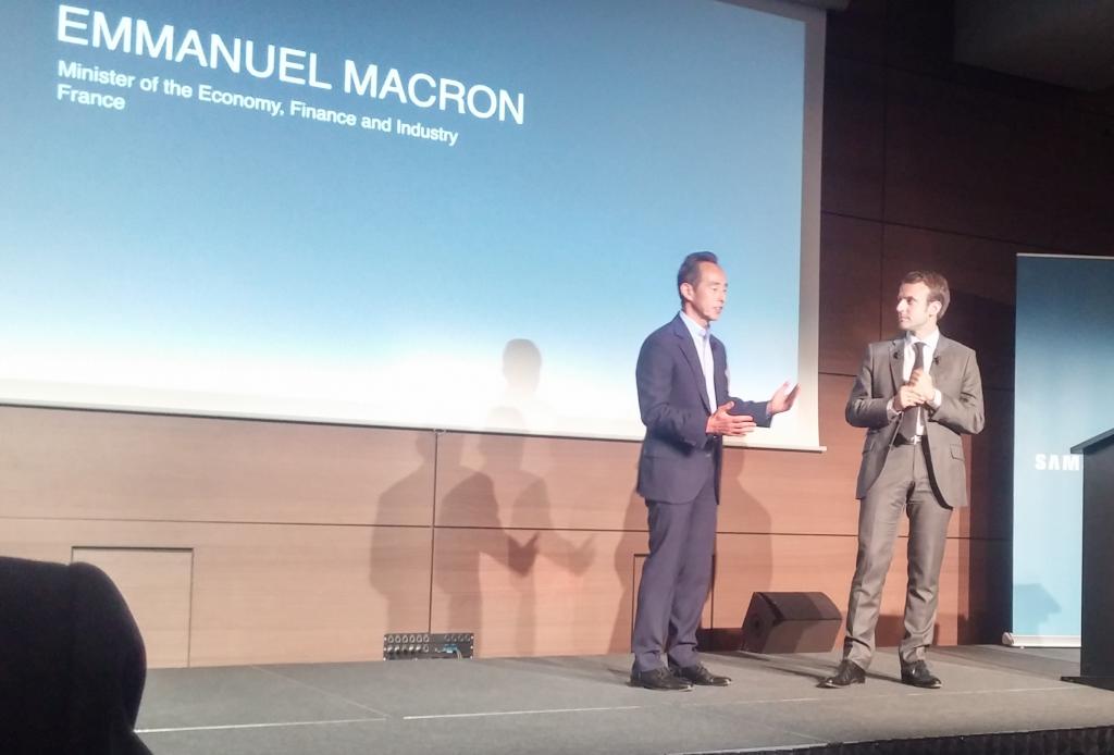 Young Sohn et Emmanuel Macron