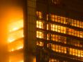 Immeuble en flammes