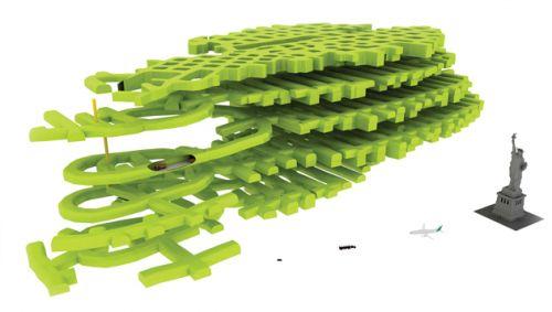 Schéma des ramification du Lefdal Mine Datacenter qui fournira 120 000 m2 de capacité d'accueil.