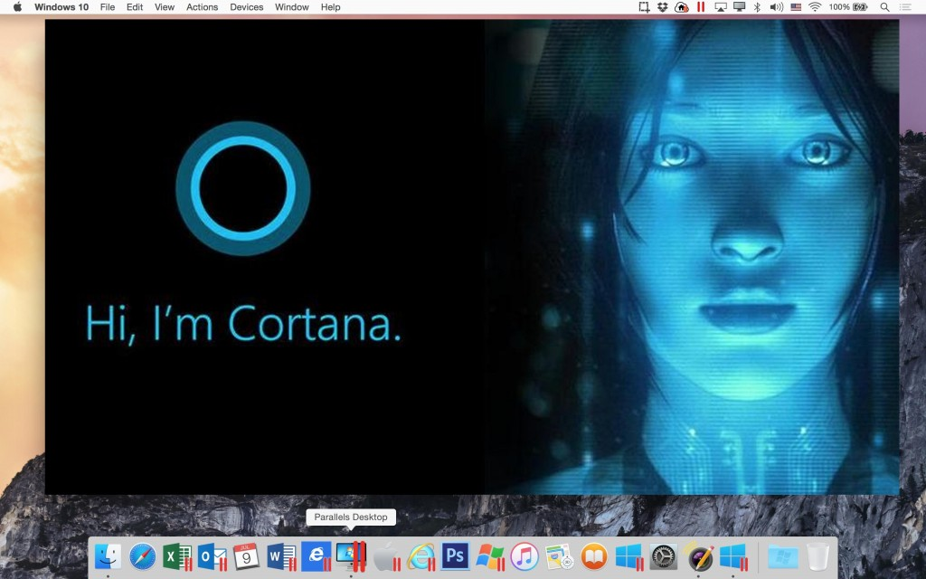 Parallels Desktop 11 - Cortana