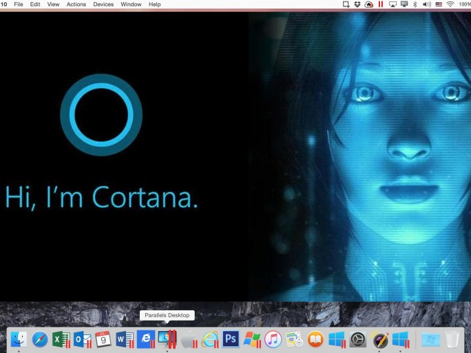 Parallels Desktop 11 - Cortana