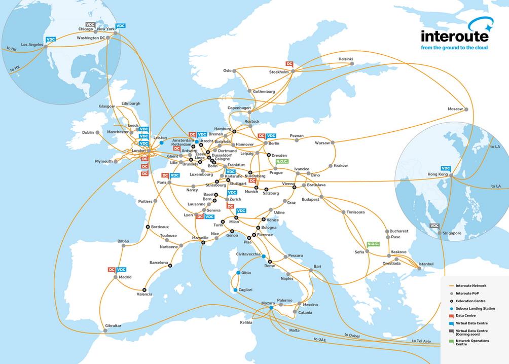 Le réseau d'Interoute fait désormais le tour de la planète.