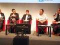 De gauche à droite : Bernard Barbier (RSSI Capgemini), Guillaume Poupard (DG Anssi), Pierre Girard (Gemalto), Alain Merle (CEA-Leti)
