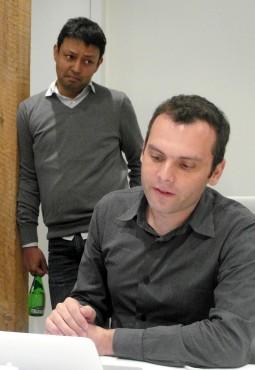 Oliver Pomel (CEO, assis) et Amit Agarwal (debout)