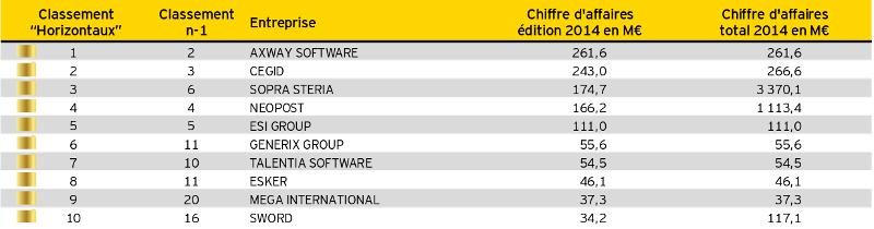 Top 250 éditeurs Syntec Numérique EY 2014-2015.IV